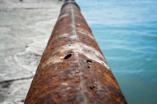 Steel Pipe; Corroded and Hole Through Pipe